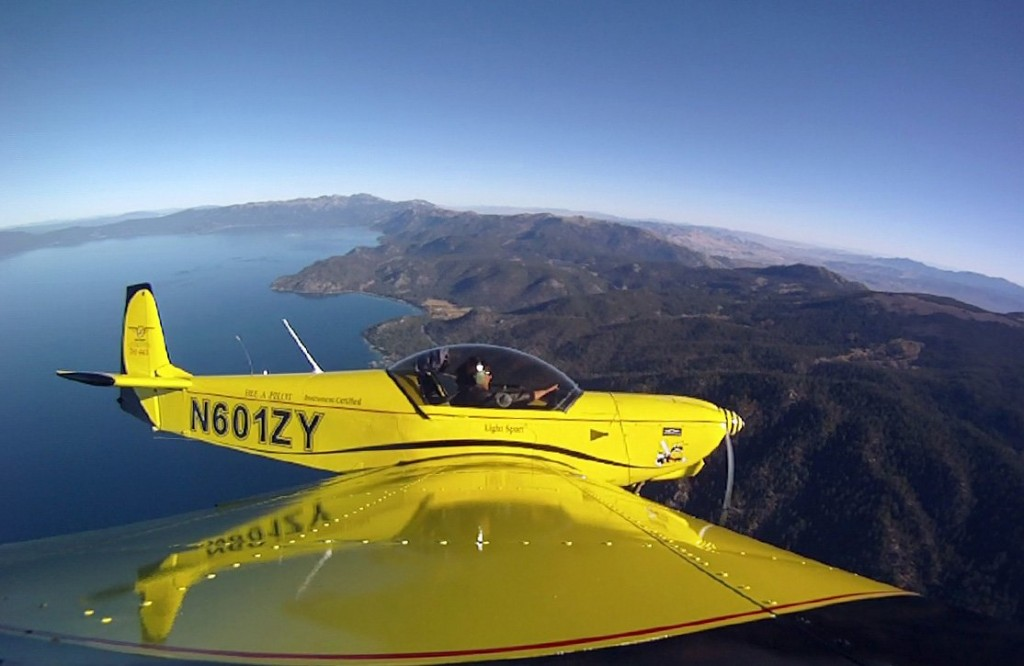 Zodiac above East Shore of Lake Tahoe, wing mount