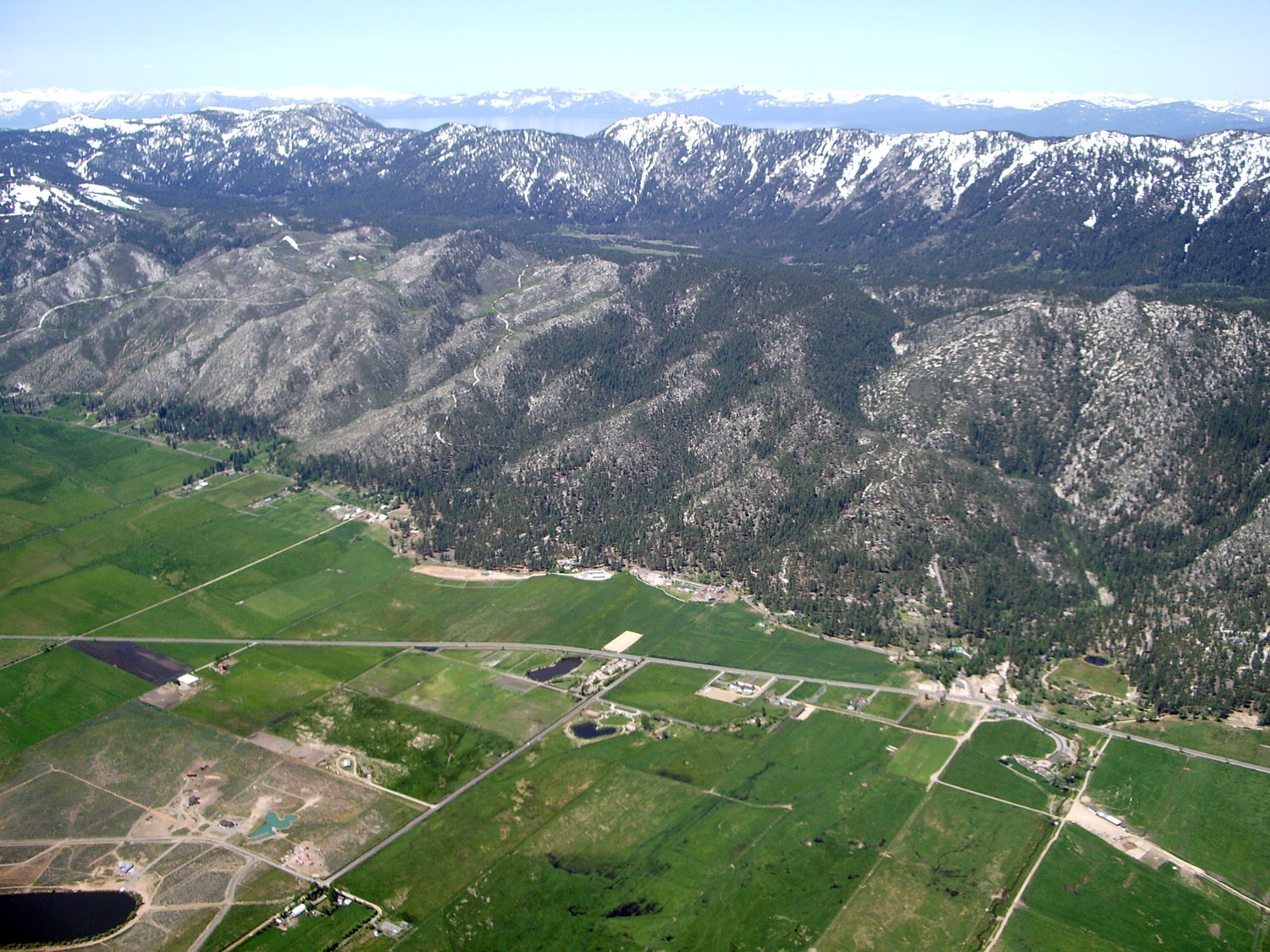 view Lake Tahoe from Washoe Valley during LSA Flight Instruction